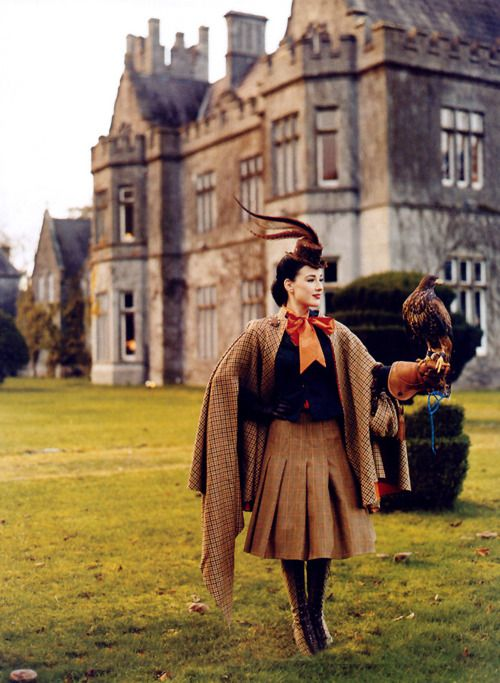 oh to be A British Lady and live in a castle and just like run around with falcons all day while I wear nothing but tweed