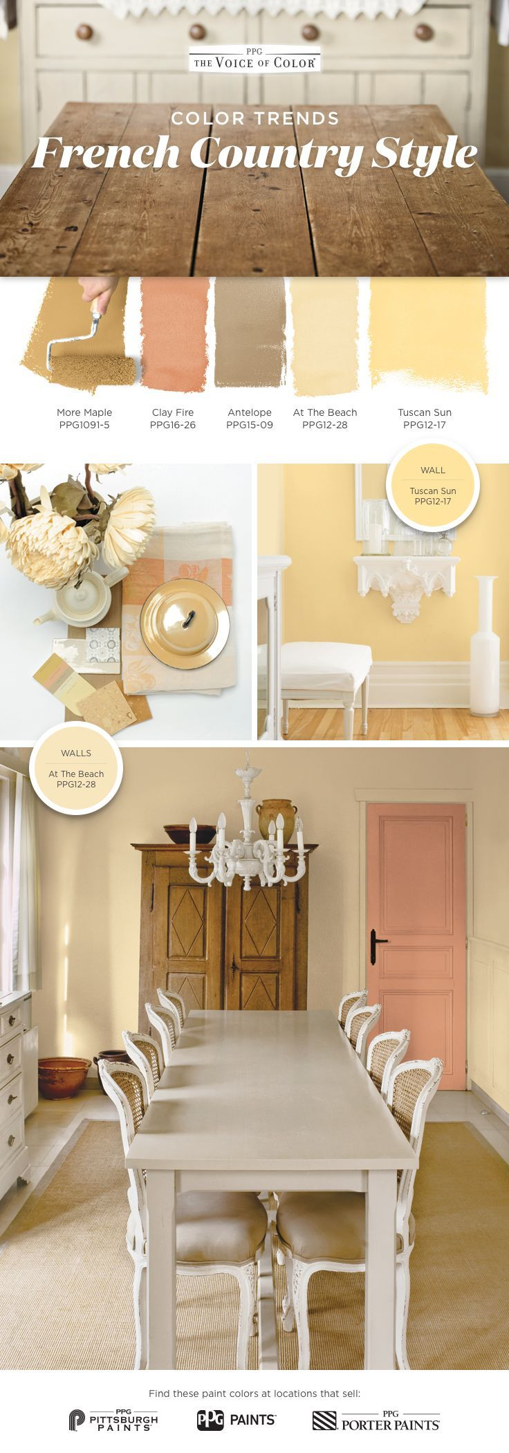 French country color palette you don 39 t need a getaway in for Country home interior paint colors