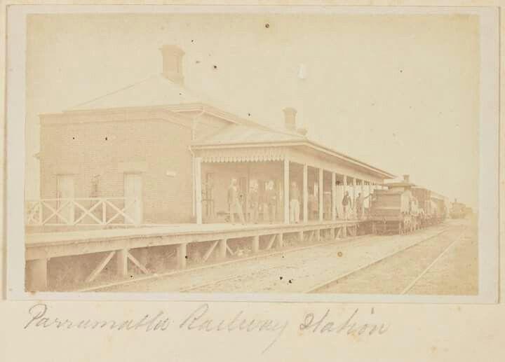 Parramatta Railway Station in 1871.