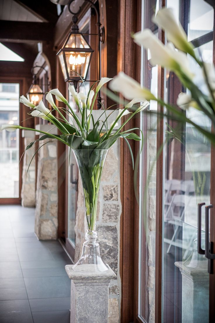 Stone Posts Large Windows Beautiful Wedding Venue Calla Lilies Lily Bouquet Cambridge MillCambridge OntarioBeautiful