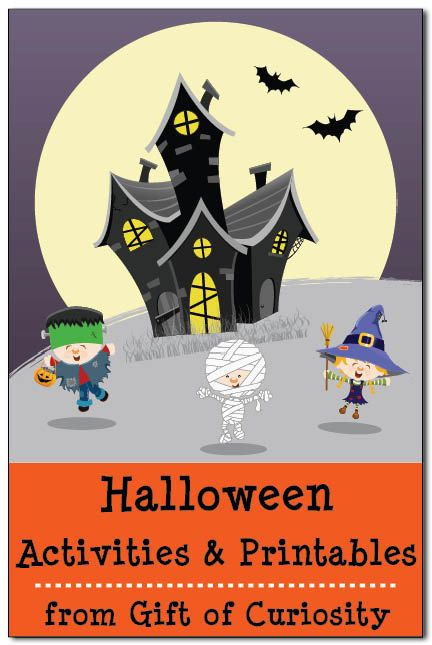 #Halloween activities and printables from Gift of Curiosity. Some of these printables are amazing!!