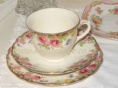 Beautiful Royal Dalton 'English Rose' Cup set. 8 available for hire in New Zealand.  www.highteahire.co.nz