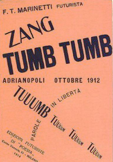 Futurismo Filippo Marinetti (1876-1944) Palabras en Libertad. Las palabras tienen sonido.