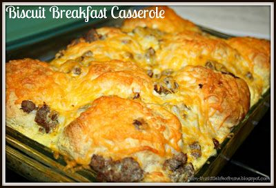 Ham and Cheese Biscuit Pull Apart Casserole - Makin' it Mo'Betta