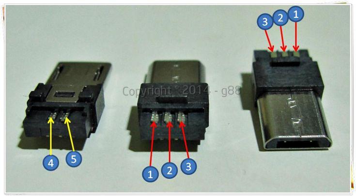 5 pins micro usb pin out