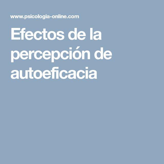 Efectos de la percepción de autoeficacia
