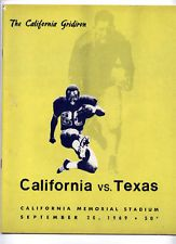 Texas v Cal _RARE_ 1969 Football Program vtg - Bears - Longhorns Cotton Bowl yr!