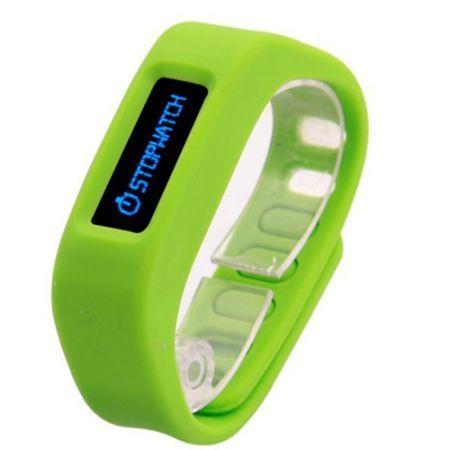 SH01-4.0 USB Powered Bluetooth V4.0 Smart Wrist Band Bracelet w/ Sleep Monitoring - Green