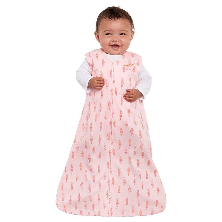 Halo SleepSack 100% Cotton Wearable Blanket - Pink Feathers - M, Infant Unisex, Blue Pink