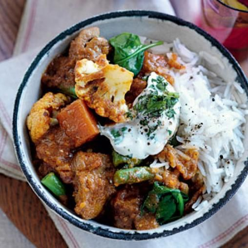 Indian chicken and vegetable curry