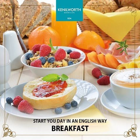 Satiate your hunger with our traditional English breakfast crafted especially for you.  #Breakfast #EnglishBreakfast #KenilworthHotels #Restaurant #Resort #Spa #Goa