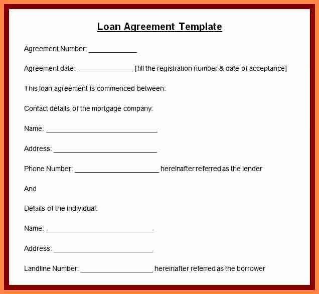 Private Loan Contract Template In 2020 Contract Template