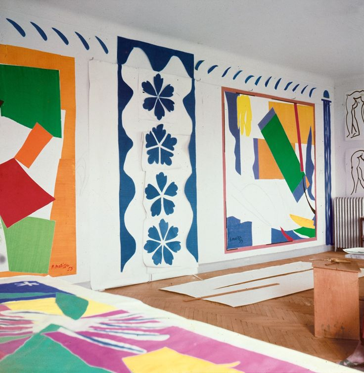 Henri Matisse cut outs at the Tate