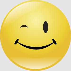 smiley 5 knipoog FC sticker