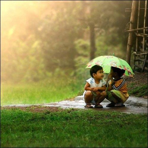 innocently seeking shelter