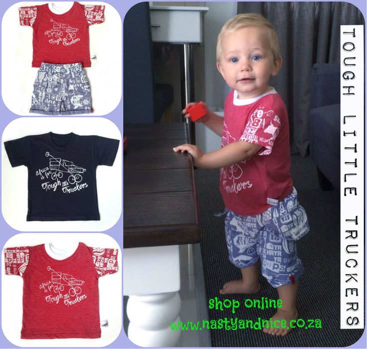 Africa is for Tough Little Truckers. Shop online at www.nastyandnice.co.za