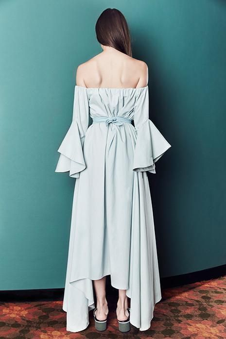 shop ethical sustainable & ethical clothing by Kaliver ISABELLA DRESS in DARK DENIM