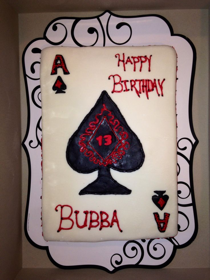 Ace Of Spades Cake In Buttercream Cakes By Tonya
