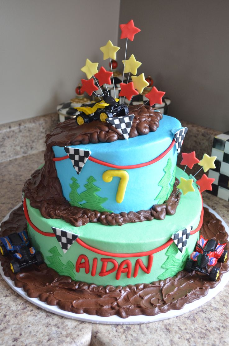 four wheeler birthday cakes cartoon