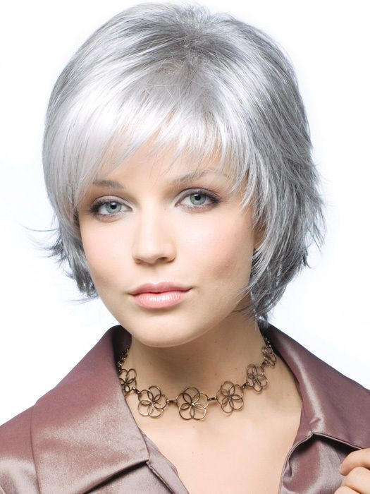 Capless Top Grade Synthetic Sexy Gray Color  Short Straight  Synthetic Women's Full Wig