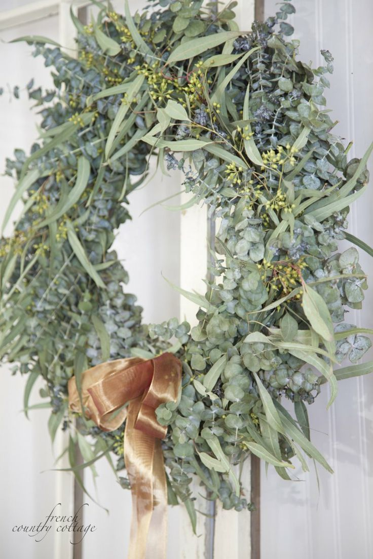 FRENCH COUNTRY COTTAGE: Fresh Eucalyptus Wreath: Things French, French Country Cottages, Awesome Wreaths, Eucalyptus Wreaths, Fresh Eucalyptus