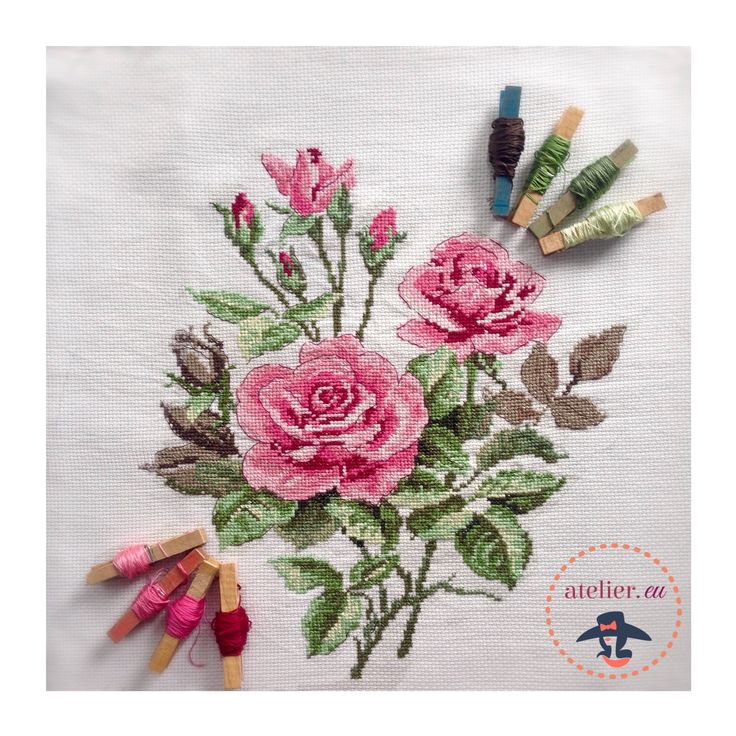cross stich roses