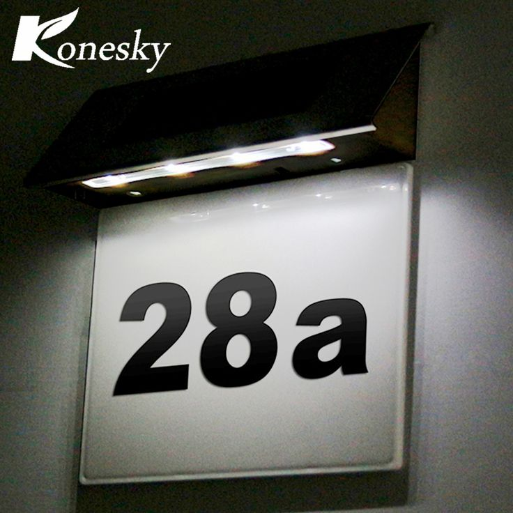 Ideal Led Sensor Licht Edelstahl Solar LED Beleuchtung T rschild Lampe Hausnummer Au enbeleuchtung