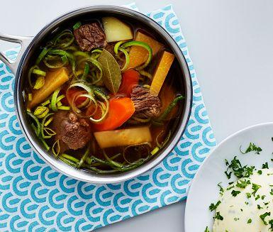 Recept: Köttsoppa med klimp