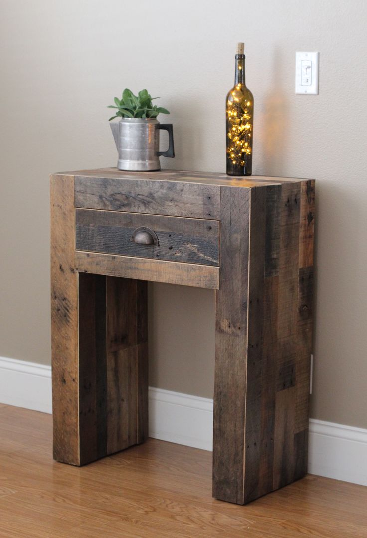 Reclaimed console table | Do It Yourself Home Projects from Ana White