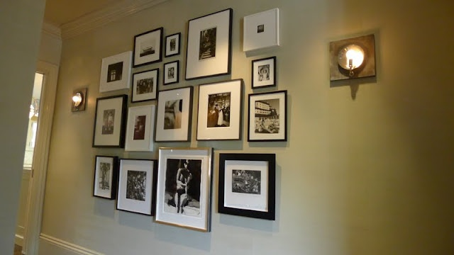 love the mix of black, silver and white frames, various size mats, thickness of frames etc.