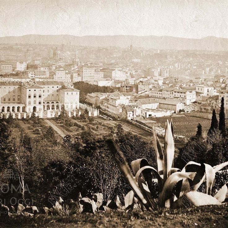 Panorama dal Gianicolo (1870 ca)