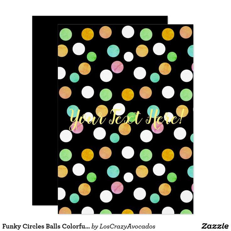 Funky Circles Balls Colorful Invitation Set