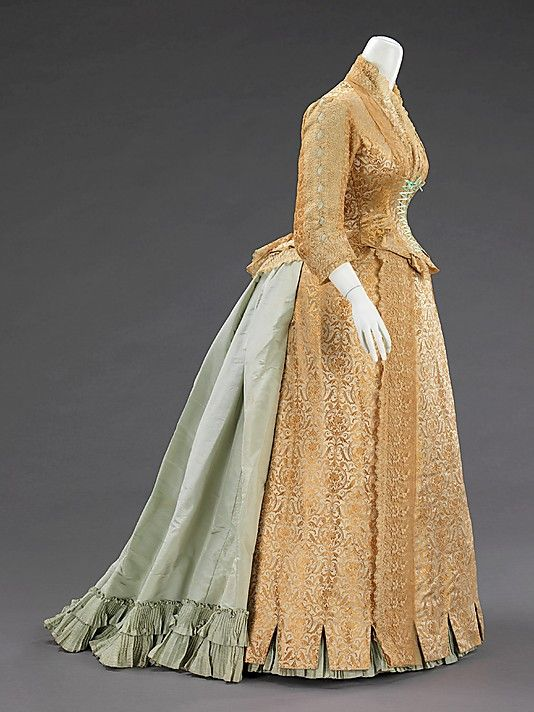 Ensemble, Dinner  (a, b) Kingsbury   Designer: (c, d) Dupuis-Jacobs Date: 1874 Culture: French Medium: silk Costume Collection at The Metropolitan Museum of Art,  Accession Number: 2009.300.862a–d