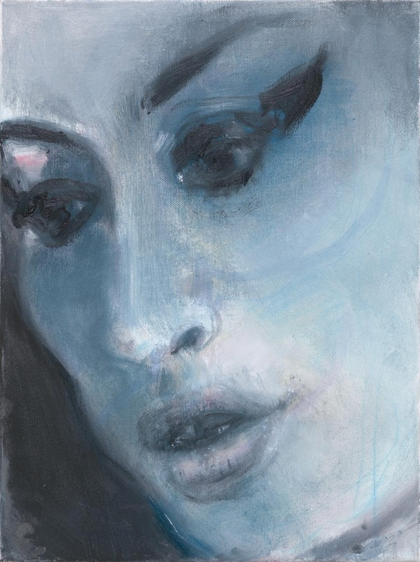 'Amy - Blue' - 2011 - by Marlene Dumas (South African, b. 1953) - Oil on canvas - @~ Mlle