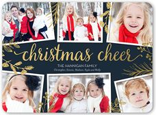 flat 4 photo foil stamped cards christmas cards christmas greeting cards shutterfly - Shutterfly Christmas Cards