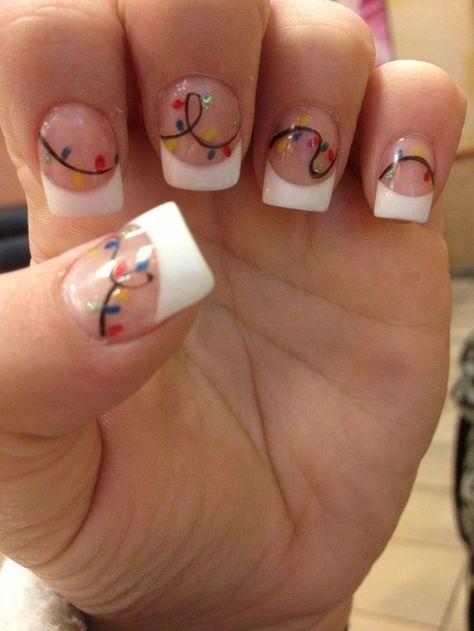 Best 25 acrylic nail designs ideas on pinterest cream nails 30 festive christmas acrylic nail designs prinsesfo Choice Image