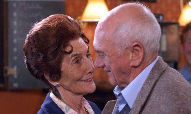 June Brown at Dot and John Bardon as Jim Branning