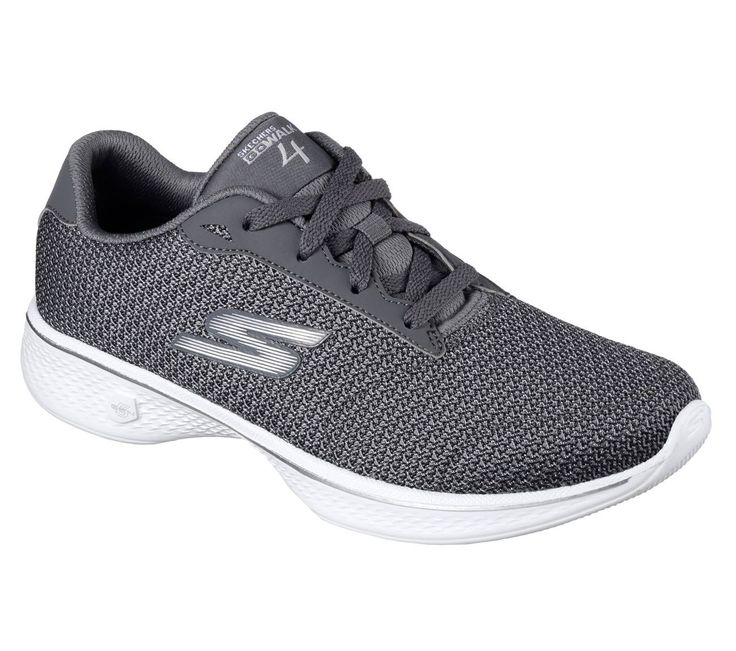 14175 Gray Skechers Shoes Go Walk 4 Women Mesh Comfort Lace Up Sporty Casual