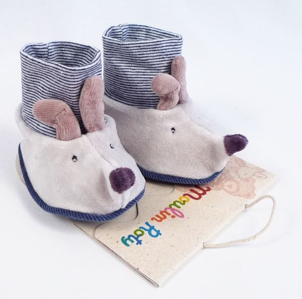Moulin Roty Mouse Baby Booties