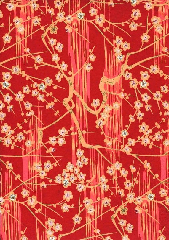 Japanese Yuzen Chiyogami Washi Paper Panorama by CraftyPaperOz