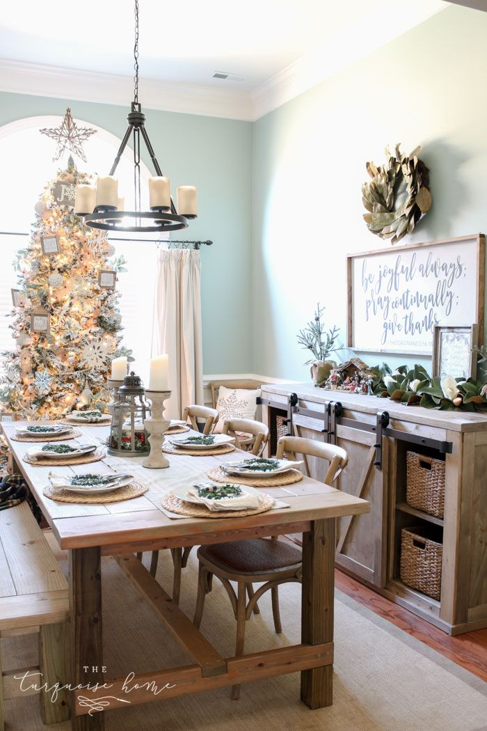 A Neutral Christmas Dining Room 329 best