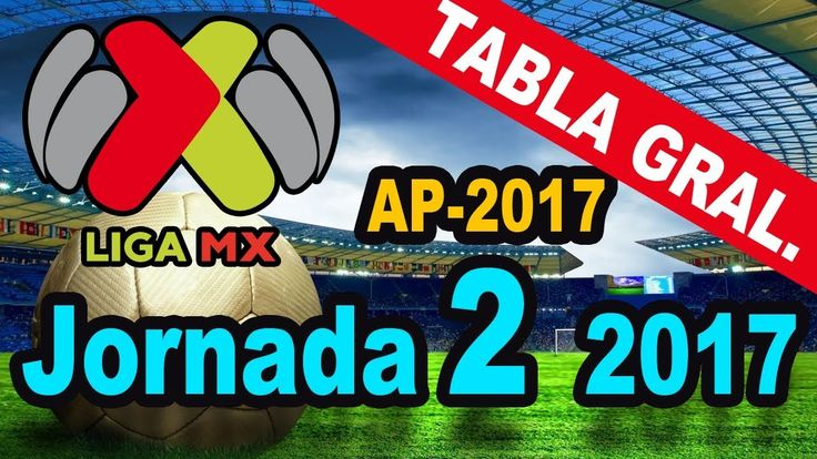 TABLA GENERAL JORNADA 2 LIGA MX - ATLAS LIDER APERTURA 2017 ⚽  Quiniela MX