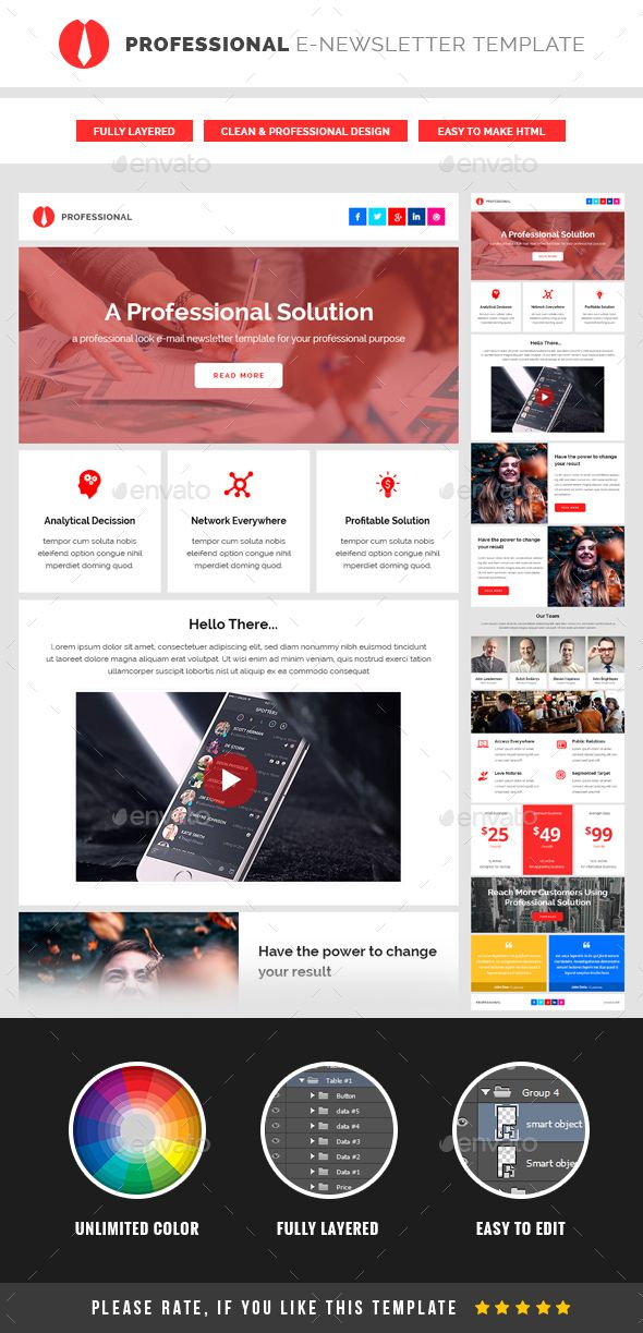 506 best e-Newsletter Templates images on Pinterest Fonts - email newsletter template