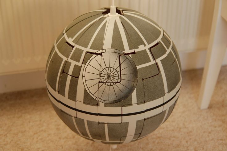 star wars todesstern death star lampe ikea ps 2014 orange. Black Bedroom Furniture Sets. Home Design Ideas