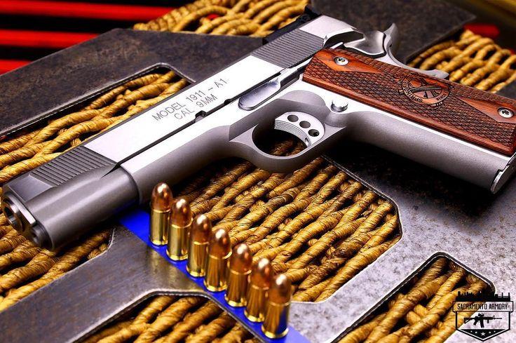 99 отметок «Нравится», 1 комментариев —  Sacramento Armory  (@sacramentoarmory) в Instagram: «Springfield 9mm Target 1911 . . . #FriYay #FridayNight #GunPorn #1911porn #Springfield…»