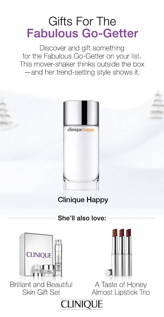The Fabulous Go-Getter on your list will love #Clinique Happy—our best-selling women's fragrance.