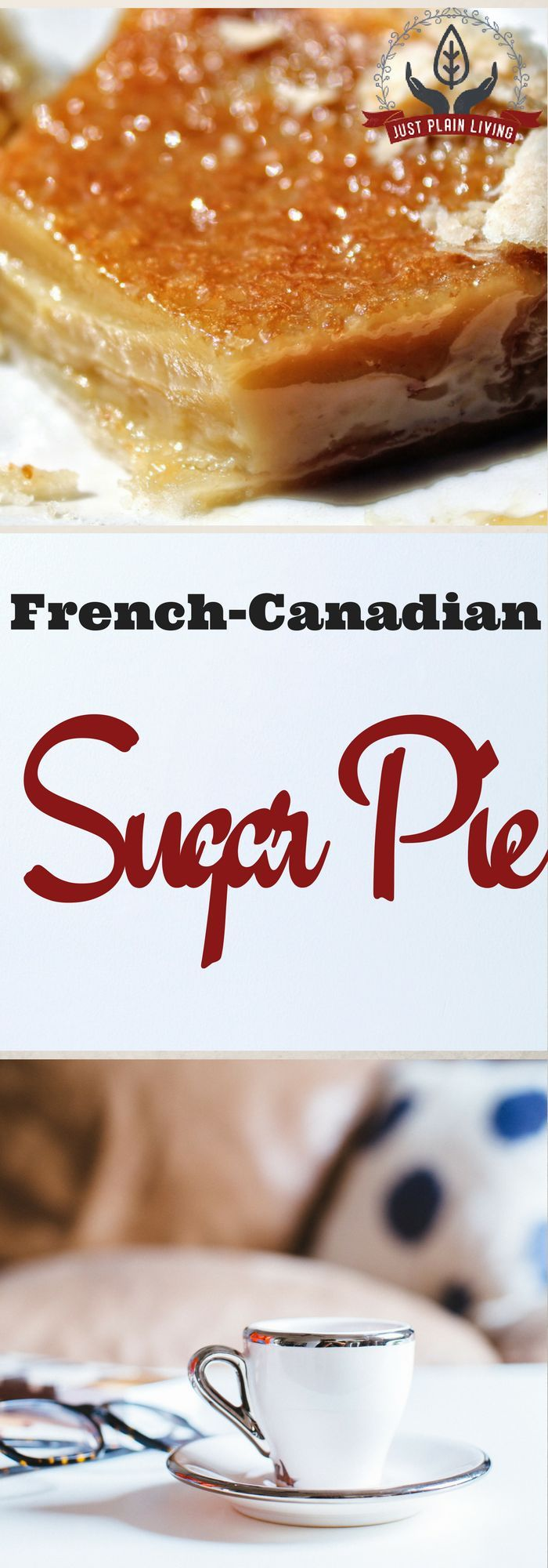 If you have never had French Canadian sugar pie, you need to try this. Cut it in tiny slices and savour every moment of this intensely sweet rich treat. via @justplainmarie
