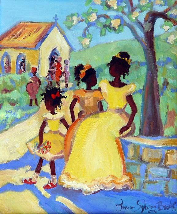 Caribbean Art | Children | Janice Sylvia Brock the start of brainwash, church, class division but it is a place to start one journey.