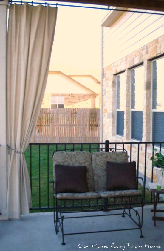 No Sew Canvas Drop Cloth Outdoor Curtains Outdoor Garden Ideas Pinterest