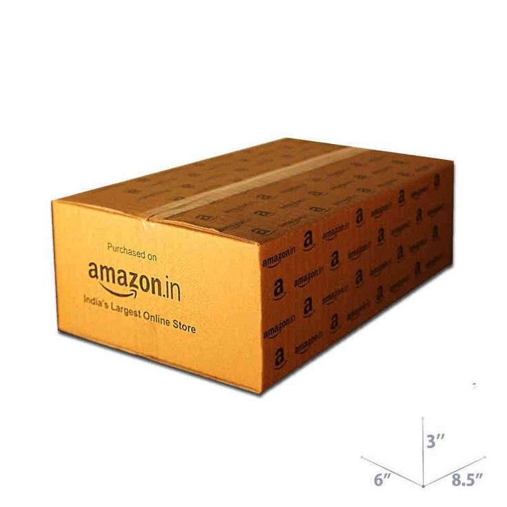 Shop 8.5 x 6 x 3 Amazon Corrugated Box online in India.